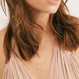 Free People Romantic Rose Quartz necklace